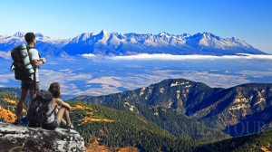 Widok Tatr ze Słowackiego Raju